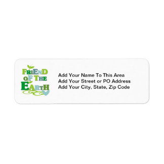 Friend of the Earth T-shirts and Gifts Return Address Label