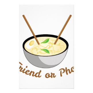 Friend Or Pho Customized Stationery