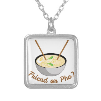 Friend Or Pho Silver Plated Necklace