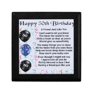 Friend Poem 50th Birthday Gift Box