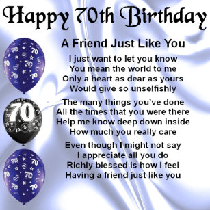 Friends 70th Birthday Gifts On Zazzle CA