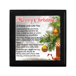 Friend Poem - Christmas Design Gift Box