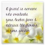 Friend Quote Print Photo Art