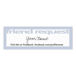 Friend Request Cards Business Card