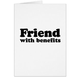 FRIEND WITH BENEFITS CARD