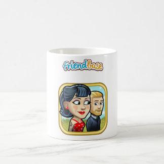 Friendbase couple mug with hand smile