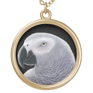 Friendly African Grey Parrot Necklace