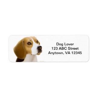 Friendly Beagle Dog Customizable Return Address Label