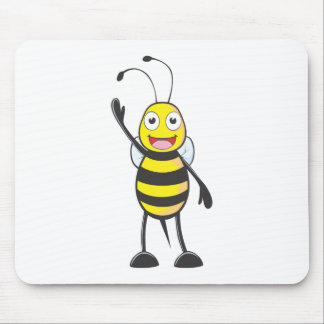 Friendly Bee Waving to You Mouse Pad