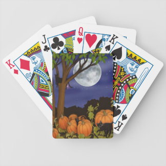 Friendly Black Cats in Pumpkin Patch Playing Cards