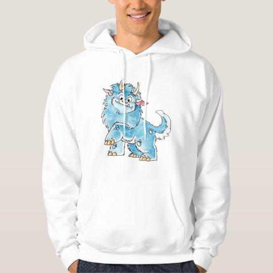 Friendly Blue Monster Hoodie