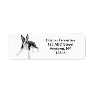 Friendly Boston Terrier Customizable Return Address Label