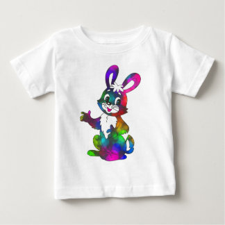 Friendly Colorful Cartoon Rabbit Tshirt