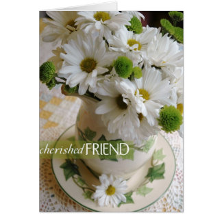 "Friendly Daisy Blessings - ""Cherished Friend"" Card"