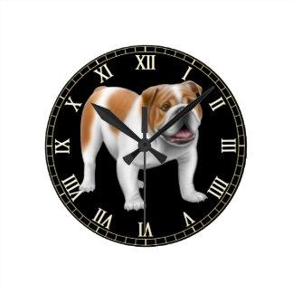 Friendly English Bulldog Wall Clock