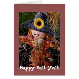 Friendly Fall Scarecrow Card