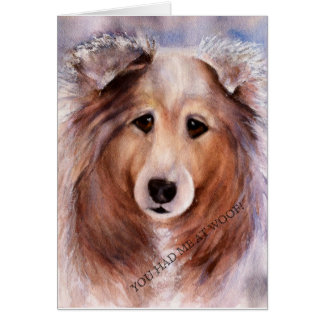 FRIENDLY GOLDEN COLLIE CARD
