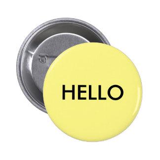 friendly greeting 2 inch round button