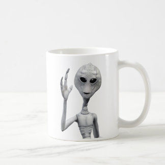 Friendly Grey Alien Coffee Mug