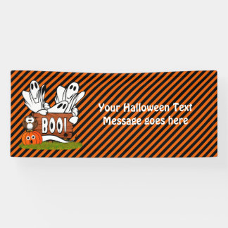 Friendly Halloween Ghosts and Pals Banner