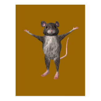 Friendly House Mouse Postcard