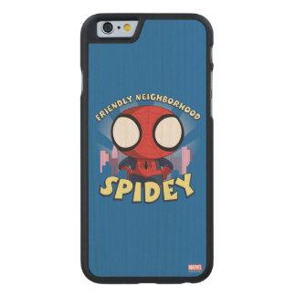 Friendly Neighborhood Spidey Mini Spider-Man Carved® Maple iPhone 6 Case