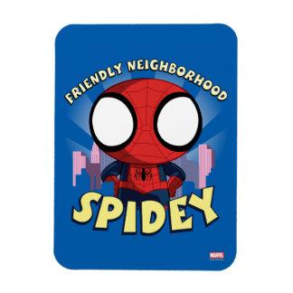 Friendly Neighborhood Spidey Mini Spider-Man Rectangular Photo Magnet