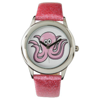 Friendly Pink Octopus Watch