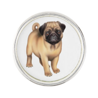 Friendly Pug Dog Lapel Pin