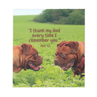 Friendly Pugs - Thinking of You Notepad
