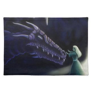 friendly purple dragon fantasy artwork placemat