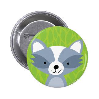 Friendly Raccoon - Woodland Friends 2 Inch Round Button