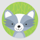 Friendly Raccoon - Woodland Friends Classic Round Sticker