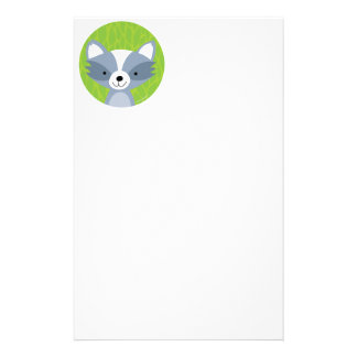 Friendly Raccoon - Woodland Friends Personalized Stationery