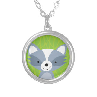 Friendly Raccoon - Woodland Friends Silver Plated Necklace