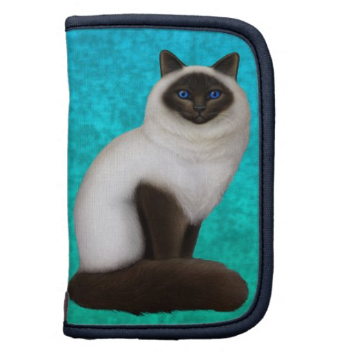 Friendly Ragdoll Birman Cat Organizer Folio