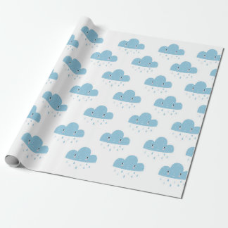 Friendly rain cloud wrapping paper