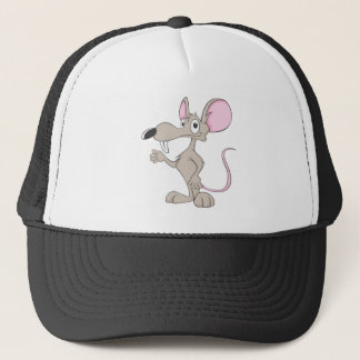 Friendly Rat Illustration Trucker Hat