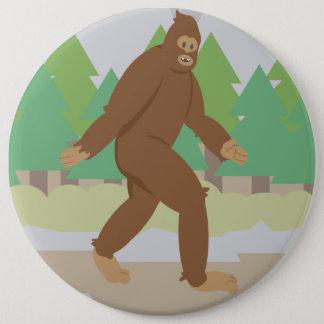 Friendly Sasquatch 6 Inch Round Button