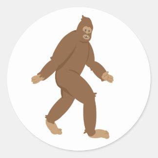 Friendly Sasquatch Classic Round Sticker