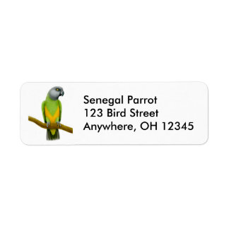 Friendly Senegal Parrot Label