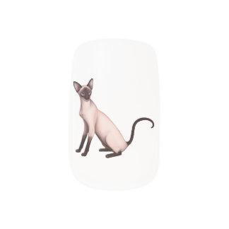 Friendly Siamese Cat Nail Art Wraps