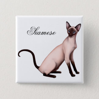 Friendly Siamese Cat Pin