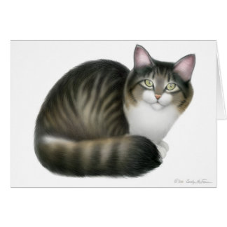 Friendly Tabby Cat Card