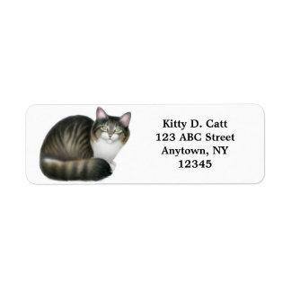 Friendly Tabby Cat Customizable Return Address Label