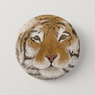 friendly tiger 2 inch round button