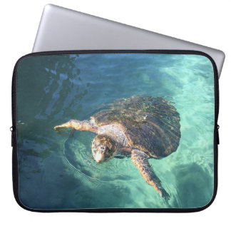 Friendly Turtle in Mexico Laptop Sleeve