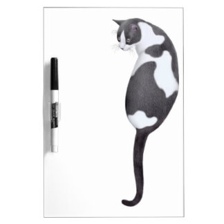 Friendly Tuxedo Cat Dry Erase Board