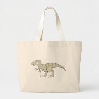 Friendly Tyrannosaurus Dinosaur Large Tote Bag