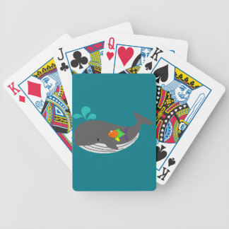 Friendly Whale Bicycle Playing Cards
